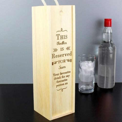 Personalised Reserved For Wine Spirit Bottle Presentation Box